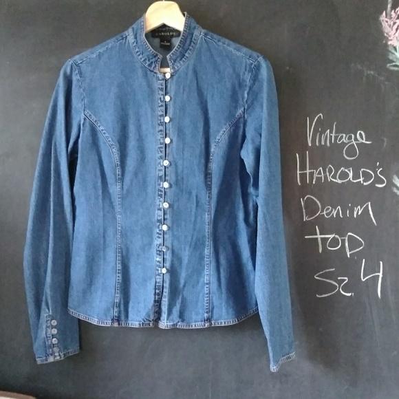 29cc20346f Harold s Tops - Harolds Denim Shirt Vintage Button Up ...